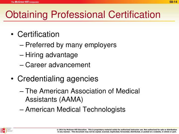 Obtaining Professional Certification