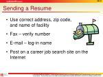 sending a resume