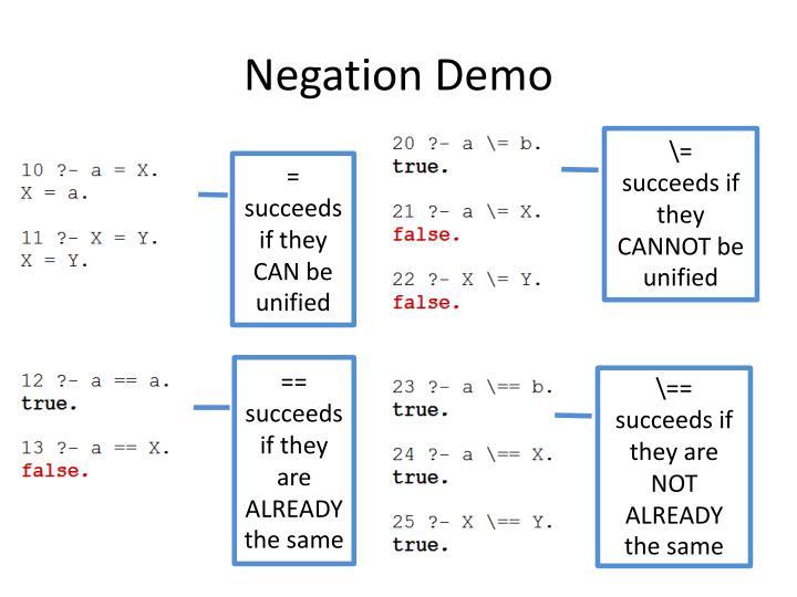 Negation Demo