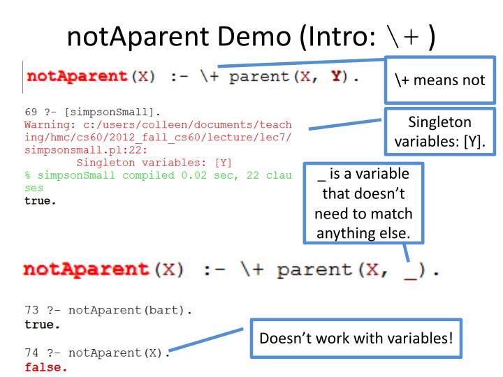 notAparent Demo (Intro: