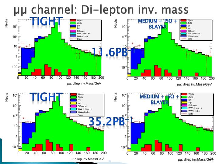 µµ channel: Di-lepton inv. mass