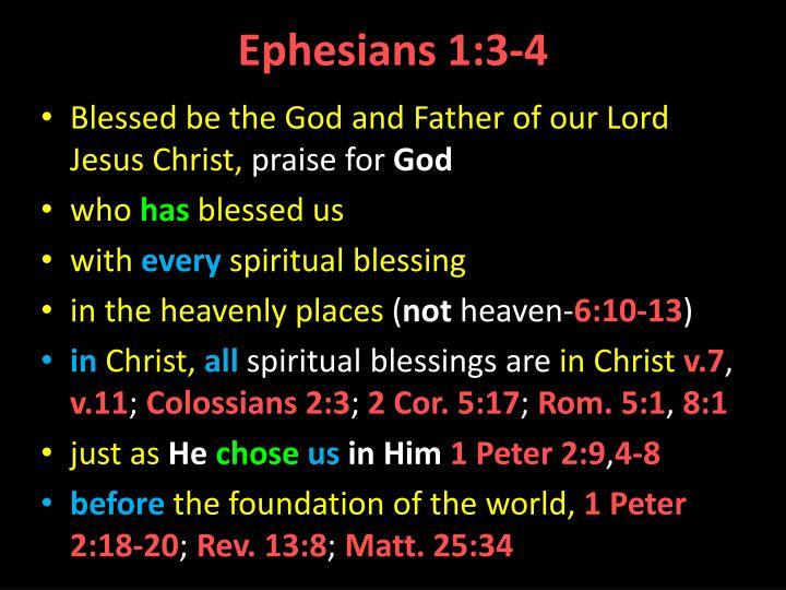 Ephesians 1:3-4