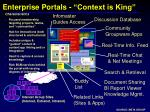 enterprise portals context is king