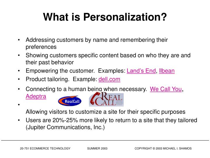 What is Personalization?