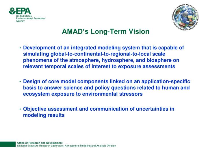 AMAD's Long-Term Vision