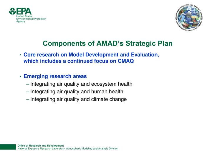 Components of AMAD's Strategic Plan