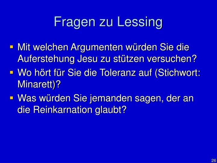 Fragen zu Lessing