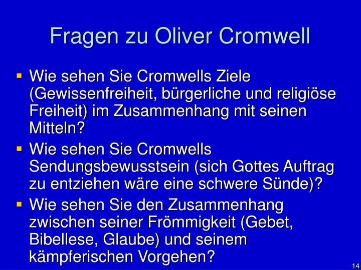 Fragen zu Oliver Cromwell