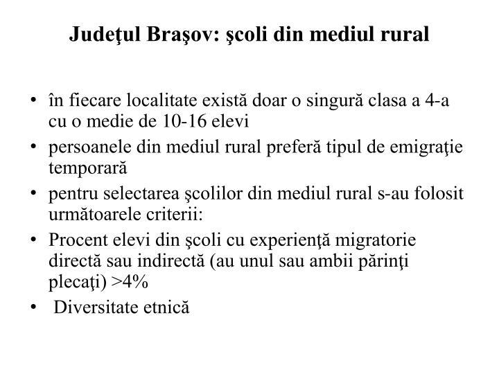 Judeţul Braşov: