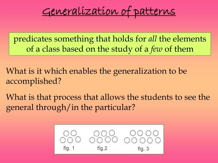 Generalization of patterns