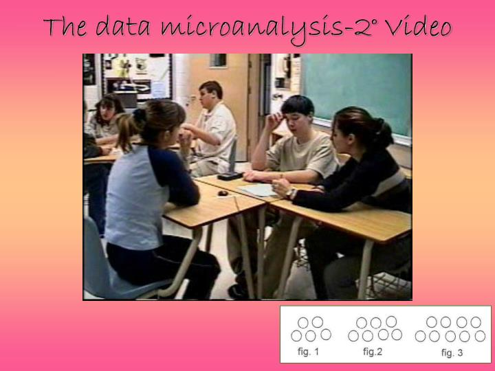 The data microanalysis-2° Video
