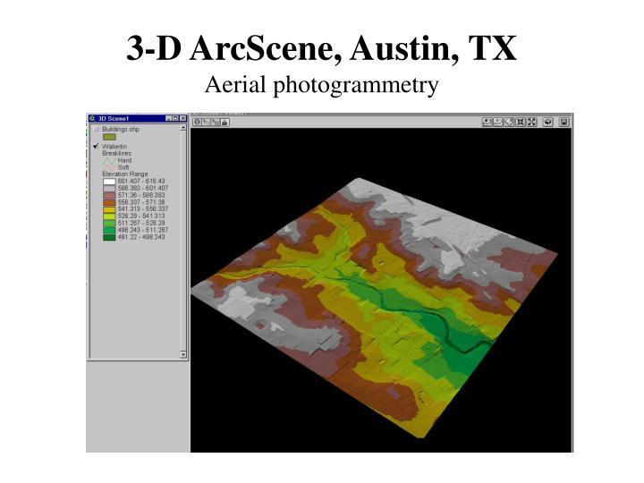 3-D ArcScene, Austin, TX