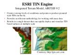 esri tin engine integrated terrain model arcgis 9 2
