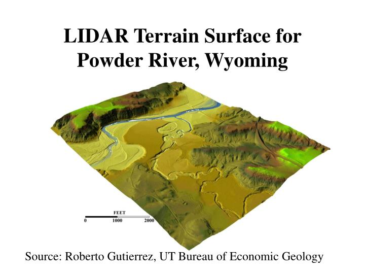 LIDAR Terrain Surface for Powder River, Wyoming