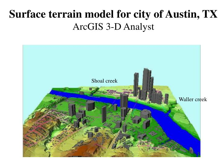 Surface terrain model for city of austin tx arcgis 3 d analyst