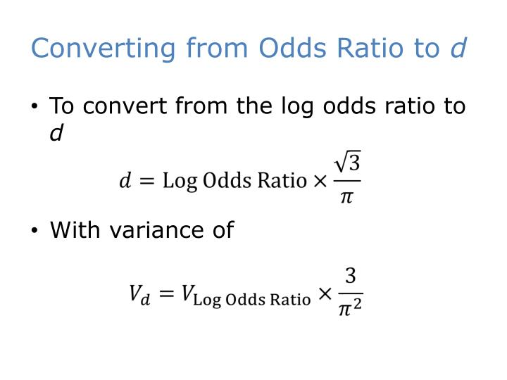 Converting from Odds Ratio to