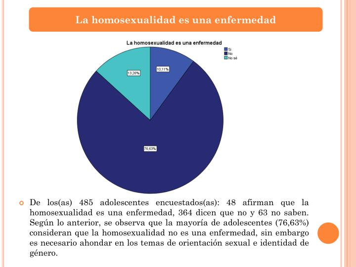 La homosexualidad es una enfermedad