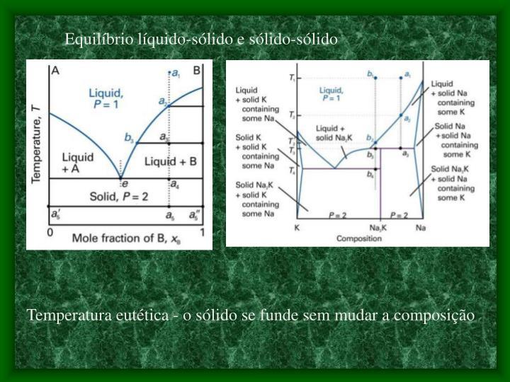 Equilíbrio líquido-sólido e sólido-sólido