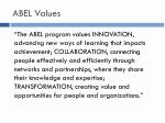 abel values