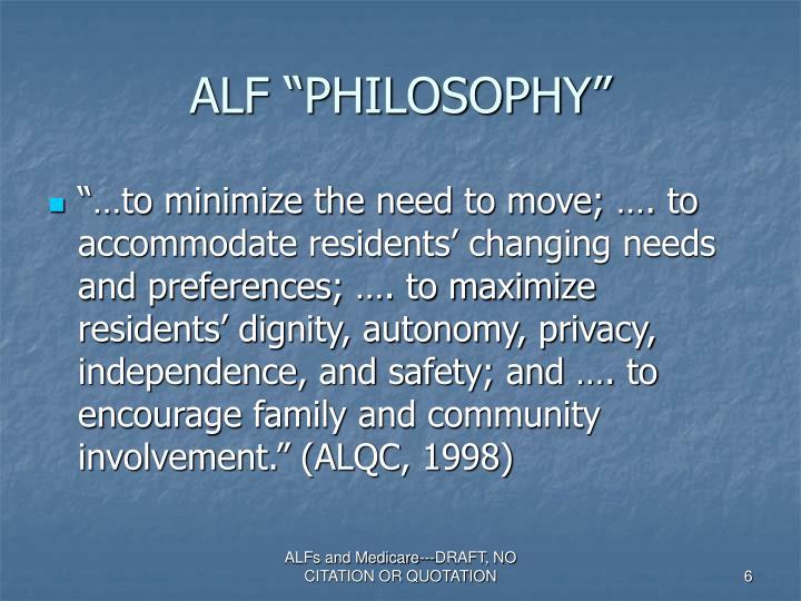 "ALF ""PHILOSOPHY"""