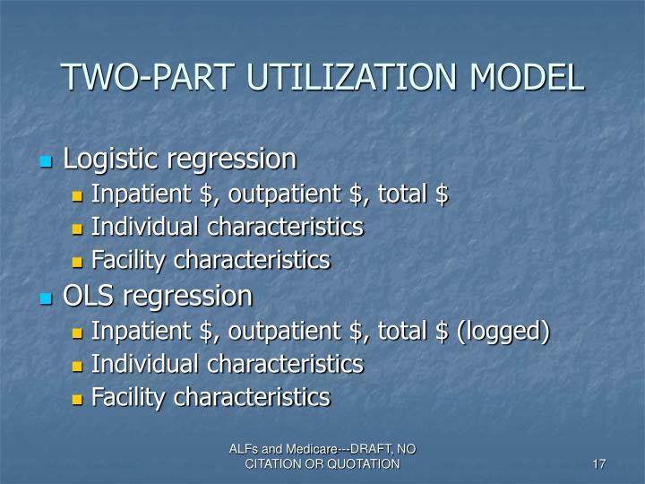 TWO-PART UTILIZATION MODEL