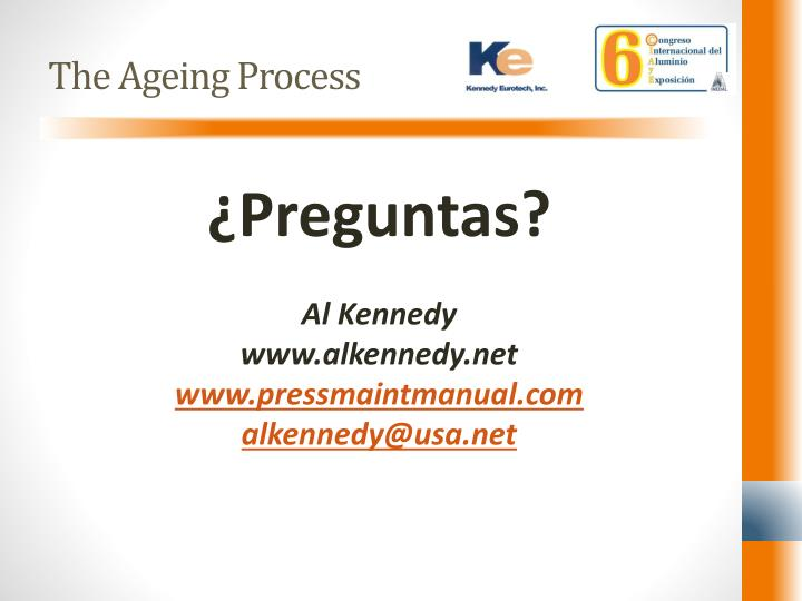 The Ageing Process