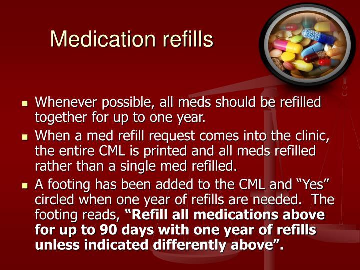 Medication refills