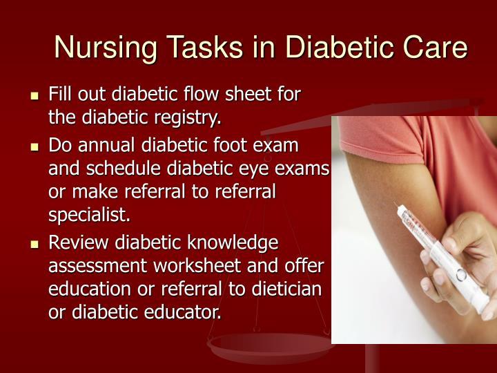 Nursing Tasks in Diabetic Care