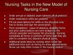 nursing tasks in the new model of nursing care1