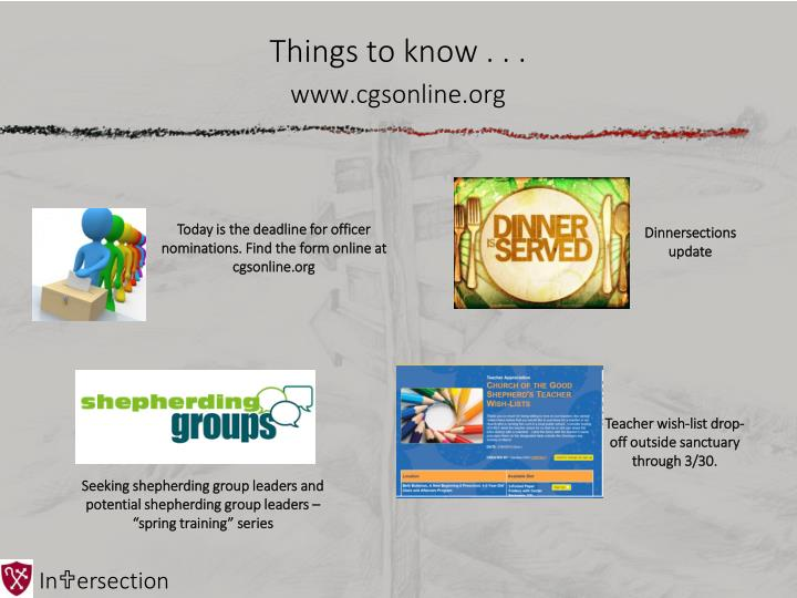 Things to know www cgsonline org