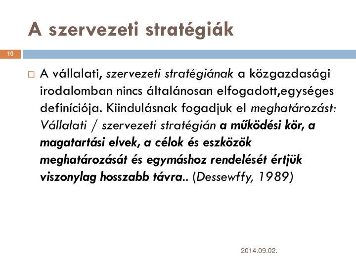 A szervezeti stratgik