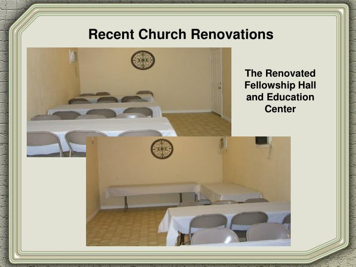 Recent Church Renovations