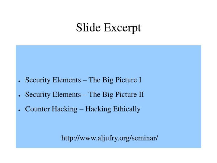 Slide Excerpt
