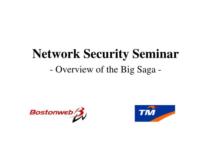 Network Security Seminar