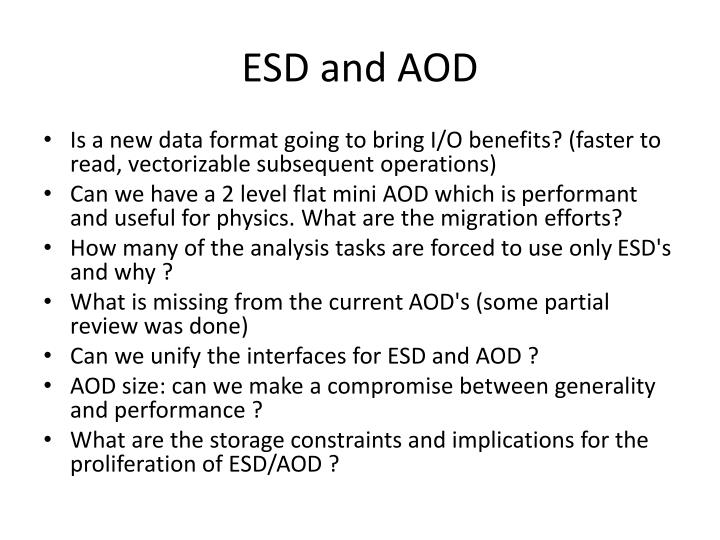 ESD and AOD
