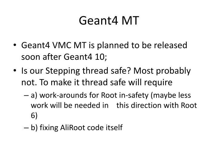Geant4 MT