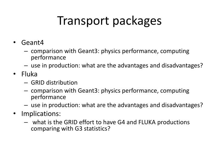 Transport packages