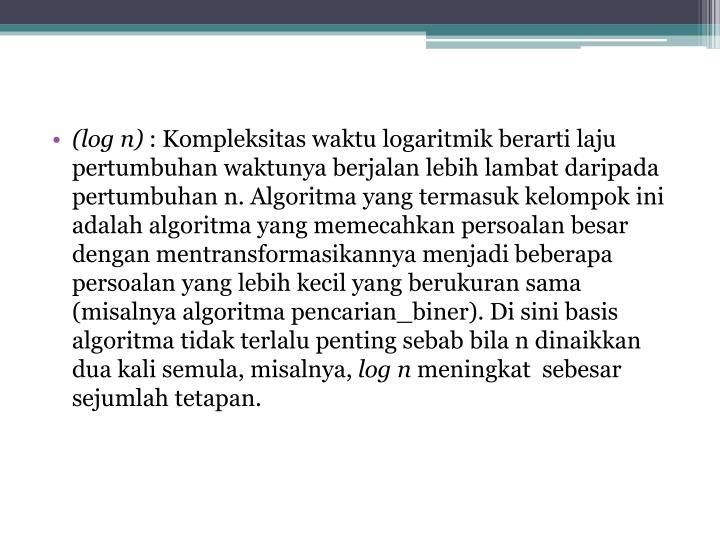 (log n)