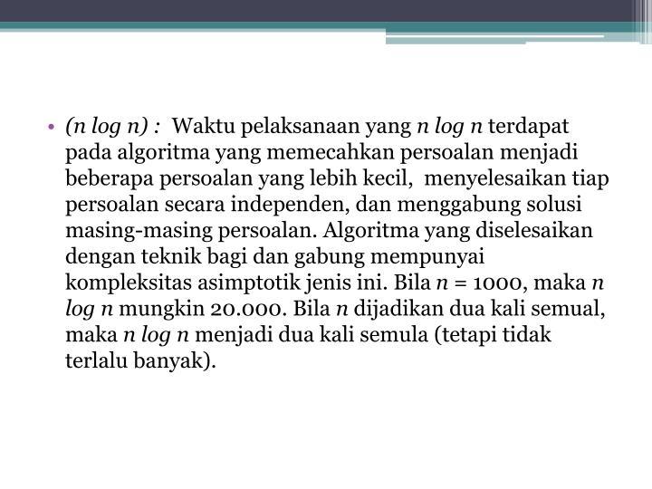 (n log n) :