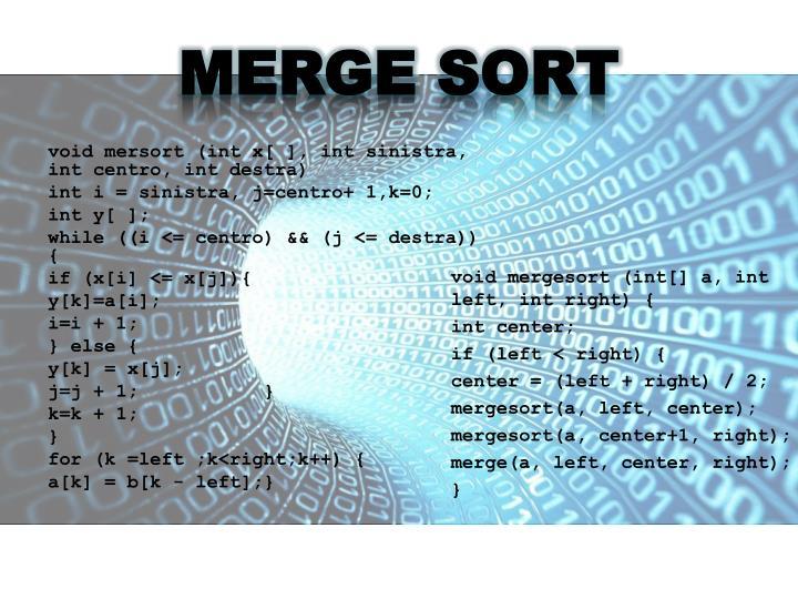 MERGE SORT
