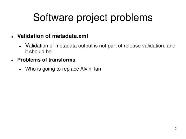 Software project problems