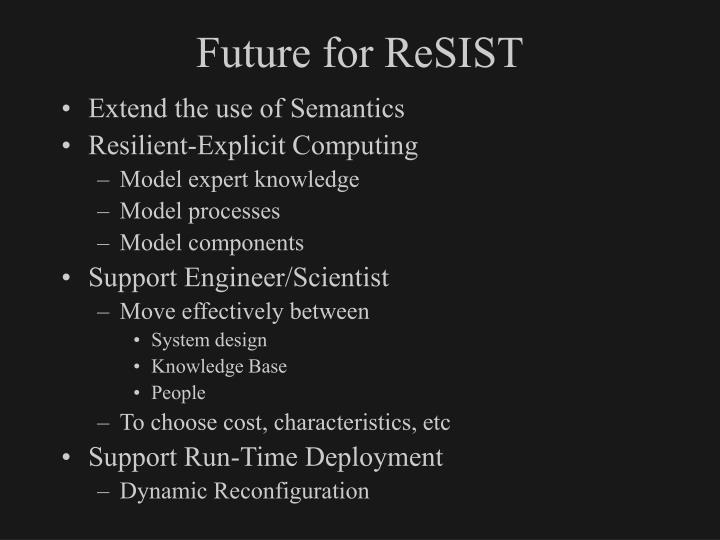 Future for ReSIST