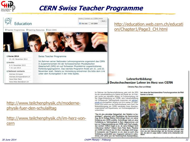 CERN Swiss Teacher Programme