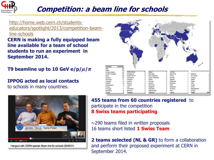 Competition: a beam line for schools