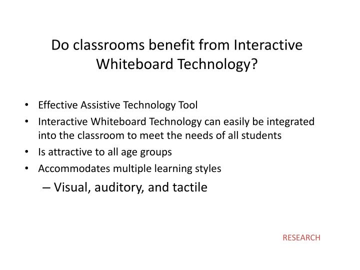 Do classrooms benefit from Interactive Whiteboard Technology?