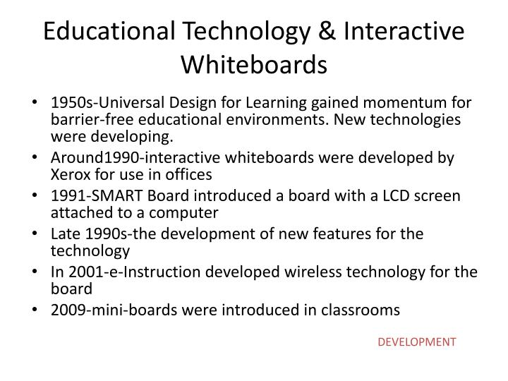 Educational technology interactive whiteboards