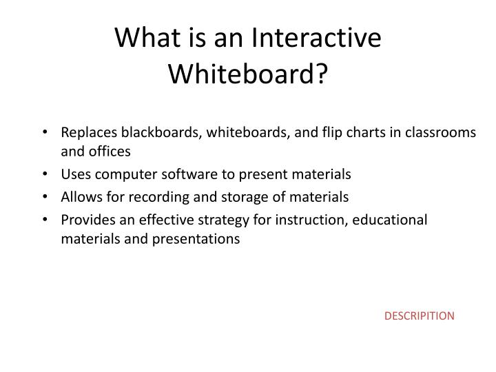 What is an Interactive Whiteboard?