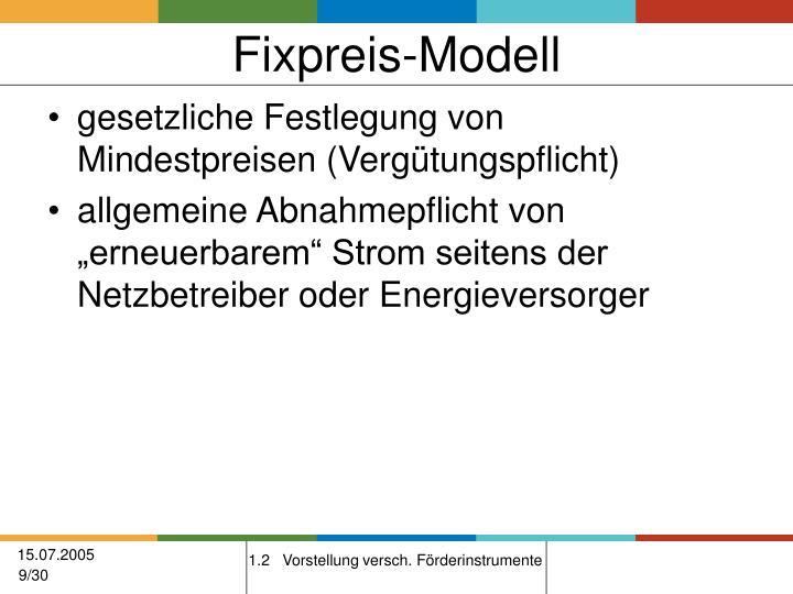 Fixpreis-Modell