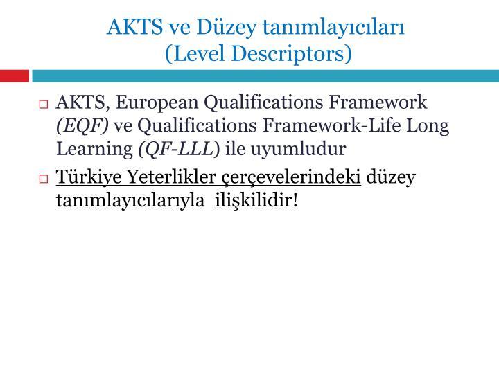 AKTS ve Düzey tanımlayıcıları