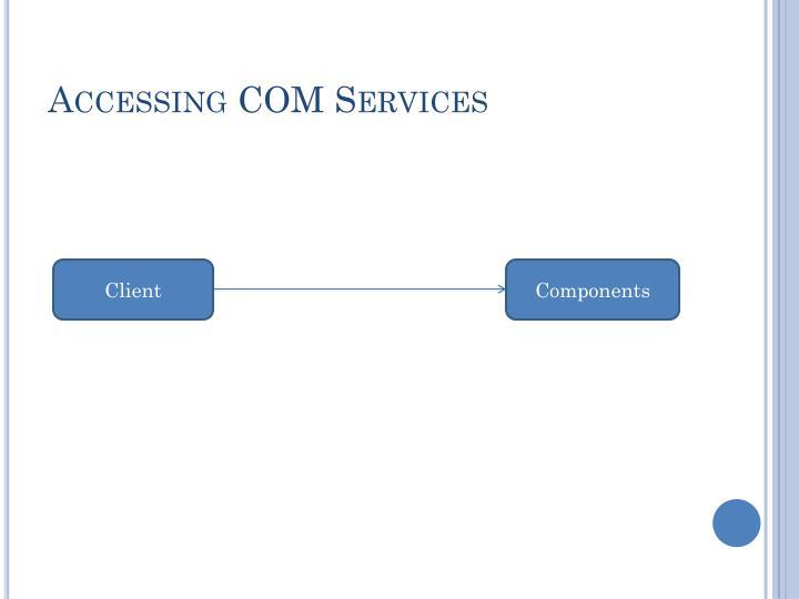 Accessing COM Services